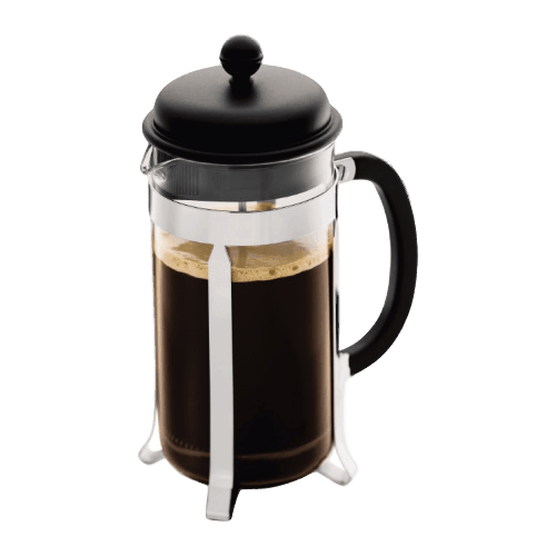 French Press 8 Cup Press (Chrome)