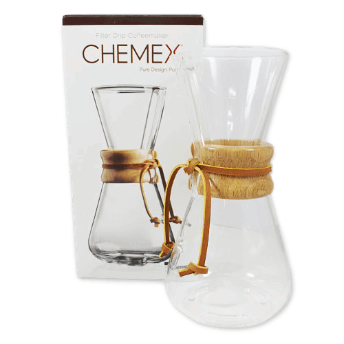 Chemex Classic 3 Cup Glass Coffee Brewer