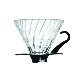 Hario V60 Dripper 2 Cup (Glass, Black)